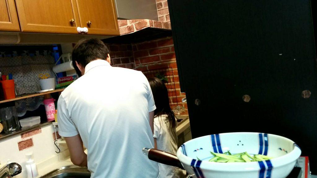 料理パパと長女