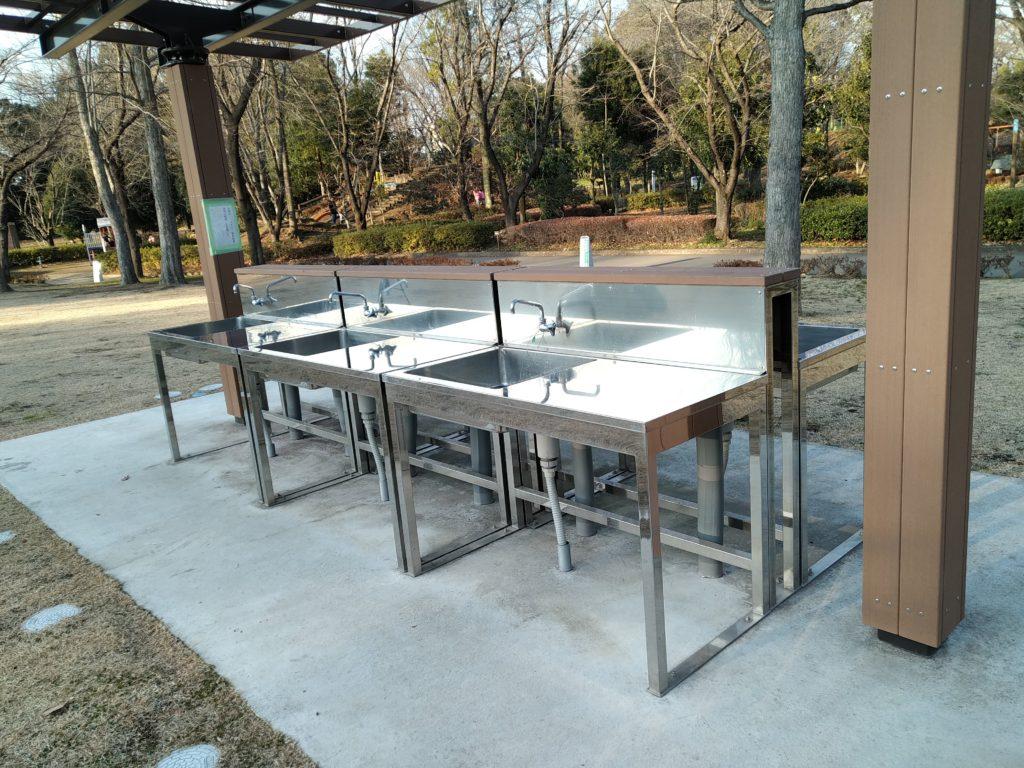 城山公園無料スペース水道